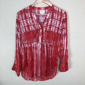 Euc Anthropologie Maeve loose fit button down top